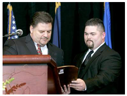 Jason And David receive the award for Small Business of the Year